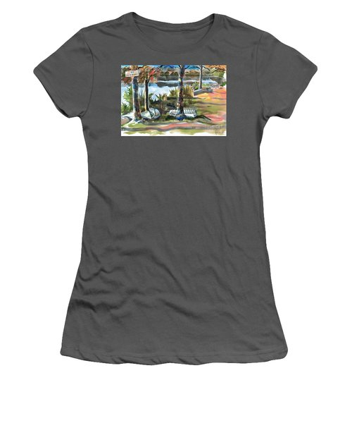 Evening Shadows At Shepherd Mountain Lake  No W101 Women's T-Shirt (Junior Cut) by Kip DeVore