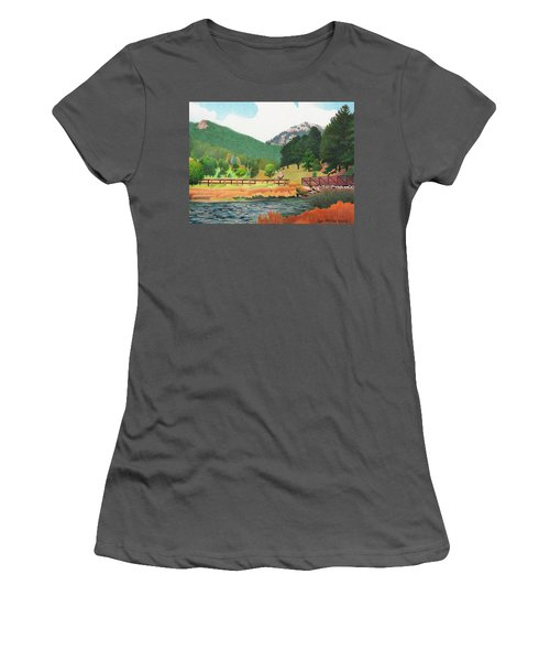 Evergreen Lake Spring Women's T-Shirt (Athletic Fit)