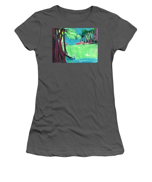 Fairway In Early Spring Women's T-Shirt (Athletic Fit)