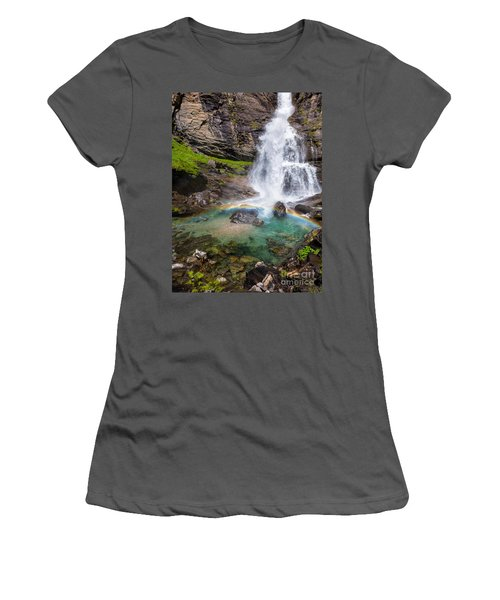Fall And Rainbow Women's T-Shirt (Athletic Fit)