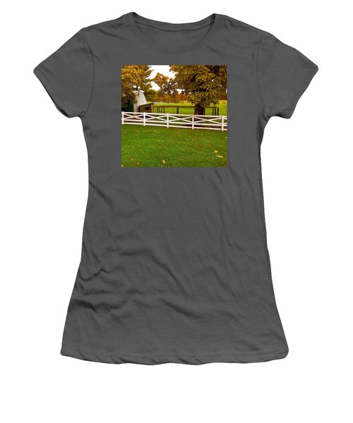 Fall At Eisenhower Farm Women's T-Shirt (Athletic Fit)