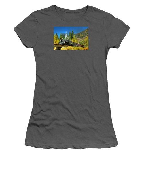 Fall Colored Bridge Women's T-Shirt (Junior Cut) by Ken Smith