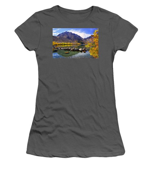 Fall Colors At Convict Lake  Women's T-Shirt (Athletic Fit)