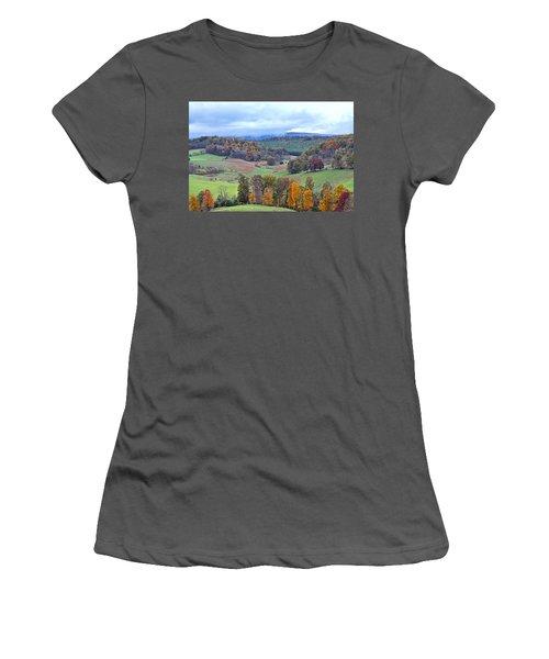 Fall In Virginia Women's T-Shirt (Junior Cut) by Denise Romano