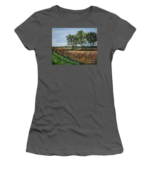 Fall On Douglas Road Women's T-Shirt (Athletic Fit)