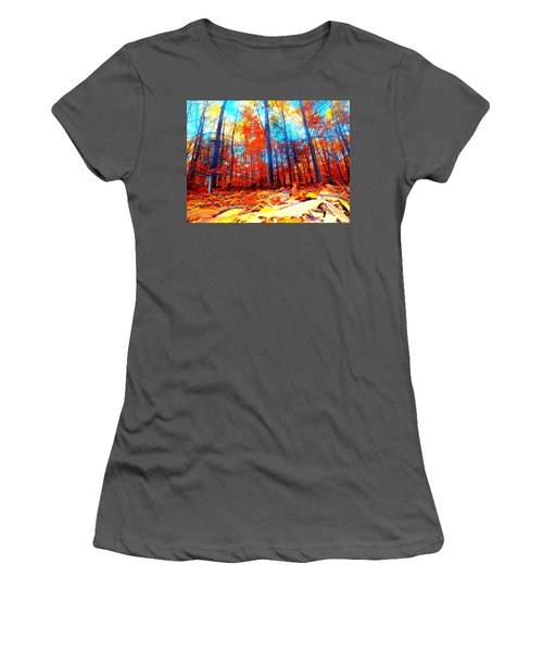 Fall On Fire Women's T-Shirt (Athletic Fit)