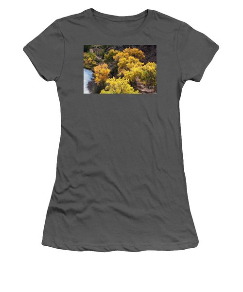 Women's T-Shirt (Junior Cut) featuring the photograph Fall On The Chama River by Roselynne Broussard