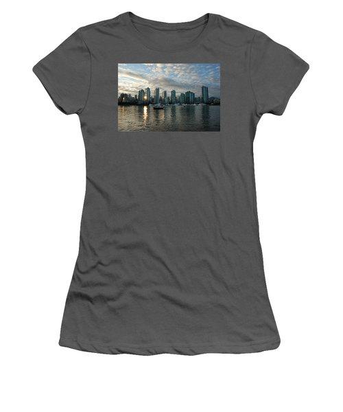 False Creek Sunset Women's T-Shirt (Athletic Fit)