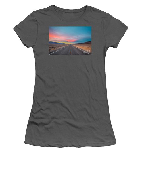 Fiery Road Though The Valley Of Death Women's T-Shirt (Athletic Fit)