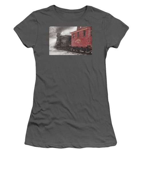 Fighting Through The Winter Storm Women's T-Shirt (Junior Cut) by Ken Smith
