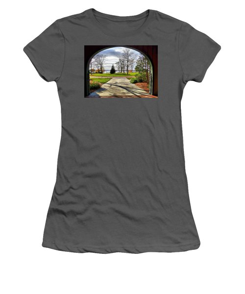 Women's T-Shirt (Junior Cut) featuring the photograph Finger Lakes View From Mackenzie Childs  by Mitchell R Grosky