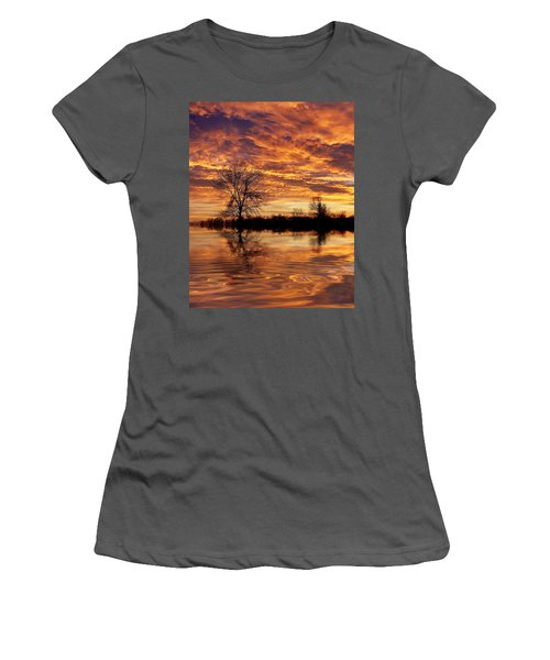 Fire Painters In The Sky Women's T-Shirt (Athletic Fit)