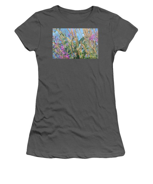 Women's T-Shirt (Junior Cut) featuring the photograph Fireweed Number Six by Brian Boyle