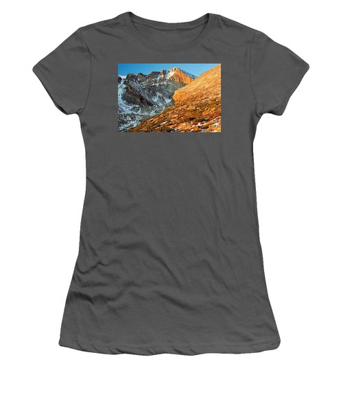 First Light At Longs Peak Women's T-Shirt (Athletic Fit)