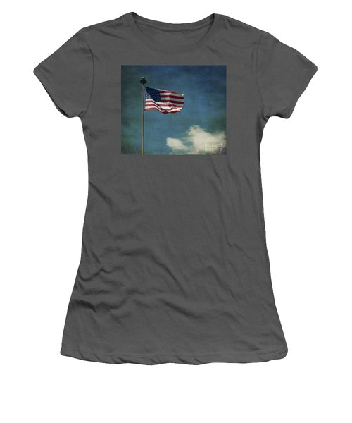 Flag - Still Standing Proud - Luther Fine Art Women's T-Shirt (Athletic Fit)