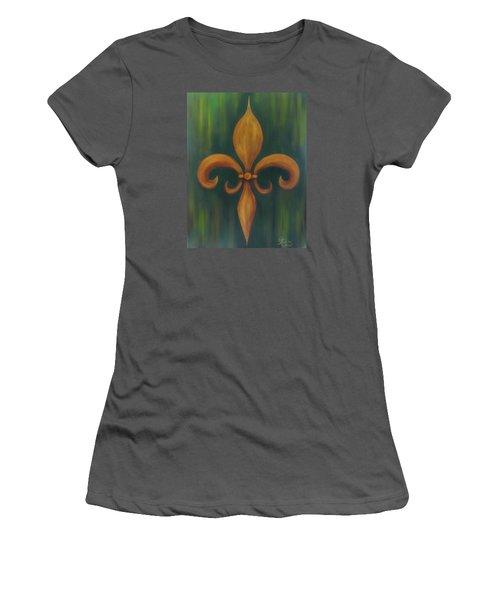Fleur-de-lis Women's T-Shirt (Athletic Fit)