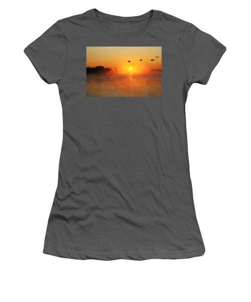 Flight At Sunrise Women's T-Shirt (Athletic Fit)