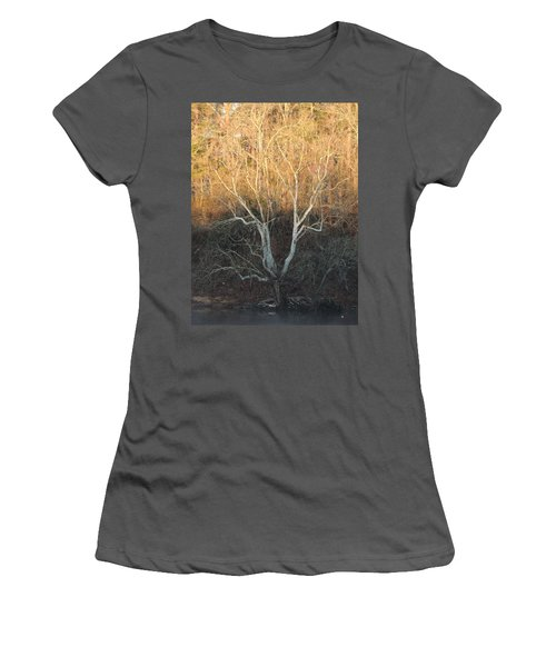 Women's T-Shirt (Junior Cut) featuring the photograph Flint River 12 by Kim Pate