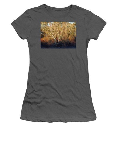 Women's T-Shirt (Junior Cut) featuring the photograph Flint River 16 by Kim Pate