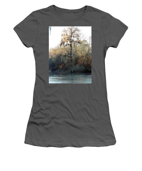 Women's T-Shirt (Junior Cut) featuring the photograph Flint River 30 by Kim Pate