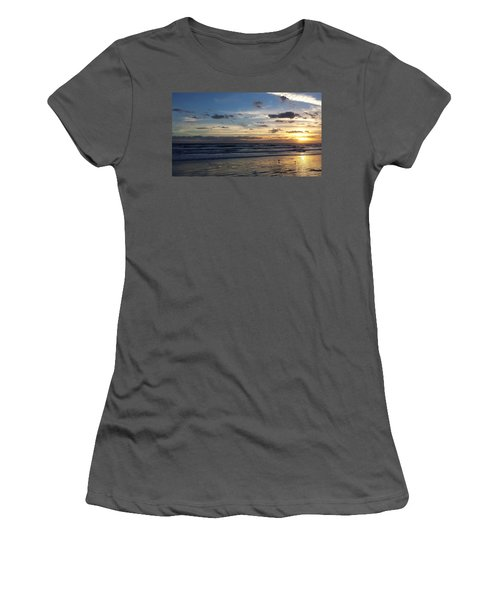 Women's T-Shirt (Junior Cut) featuring the photograph Florida Sunrise by Ally  White