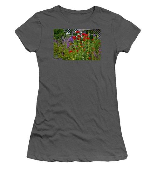 Flower Garden Women's T-Shirt (Athletic Fit)