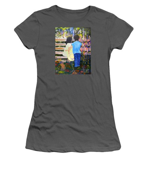 Flowers For Her Women's T-Shirt (Athletic Fit)