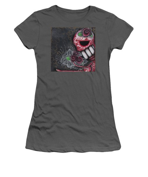 Flowers For The Dead II Women's T-Shirt (Junior Cut) by Abril Andrade Griffith