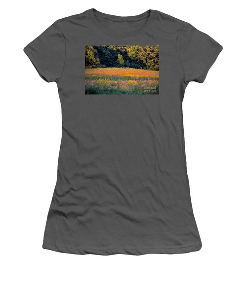Flowers In The Meadow Women's T-Shirt (Athletic Fit)