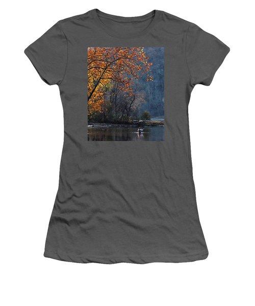 Fly Fisherwoman Women's T-Shirt (Junior Cut) by Denise Romano