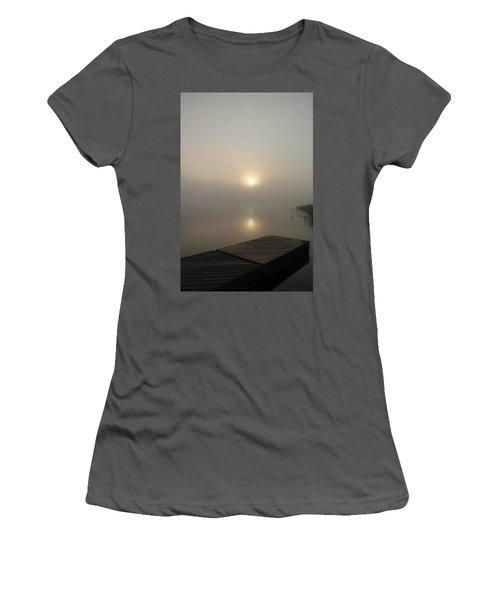 Foggy Reflections Women's T-Shirt (Junior Cut) by Debbie Oppermann