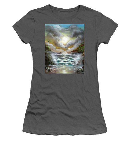 Women's T-Shirt (Junior Cut) featuring the painting Follow The Wind by Patrice Torrillo