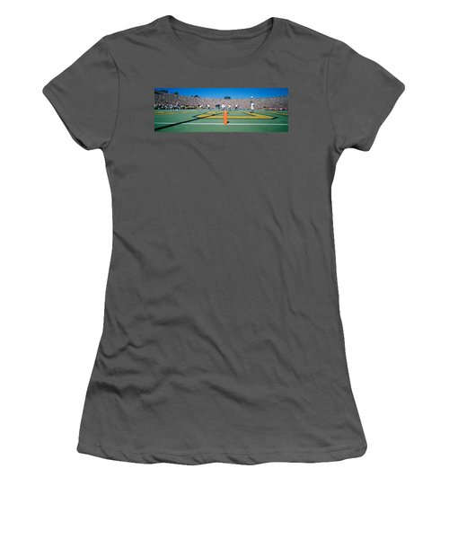 Football Game, University Of Michigan Women's T-Shirt (Athletic Fit)