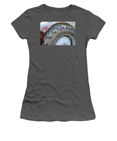 Women's T-Shirt (Junior Cut) featuring the photograph Ford Tractor by Jennifer Ancker