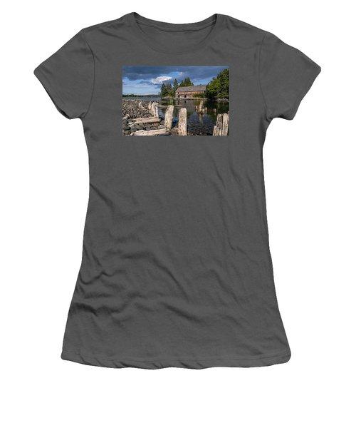 Forgotten Downeast Smokehouse Women's T-Shirt (Junior Cut) by Marty Saccone