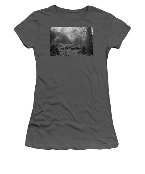 Women's T-Shirt (Junior Cut) featuring the photograph Forset Trees by Maj Seda