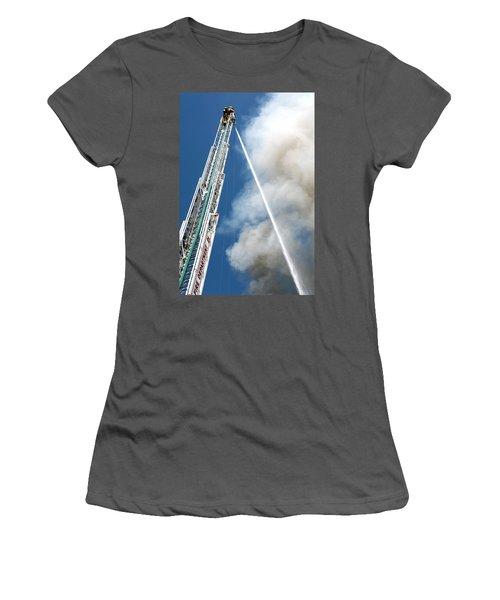 Four Alarm Blaze 001 Women's T-Shirt (Athletic Fit)
