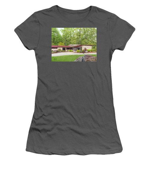 Frank Lloyd Wright At Duncan House Women's T-Shirt (Athletic Fit)