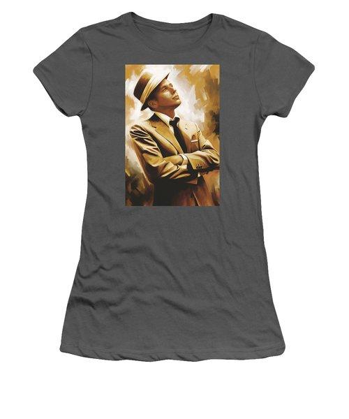 Frank Sinatra Artwork 1 Women's T-Shirt (Junior Cut) by Sheraz A