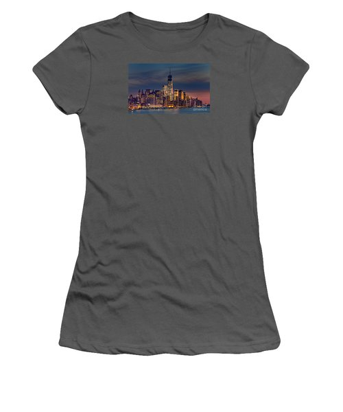 Freedom Tower Construction End Of 2013 Women's T-Shirt (Junior Cut) by Jerry Fornarotto