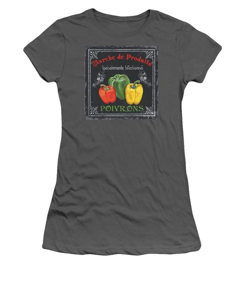 French Vegetables 3 Women's T-Shirt (Junior Cut) by Debbie DeWitt