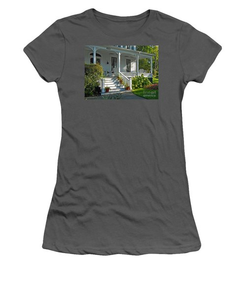 Front Porch In Summer Women's T-Shirt (Junior Cut) by Desiree Paquette