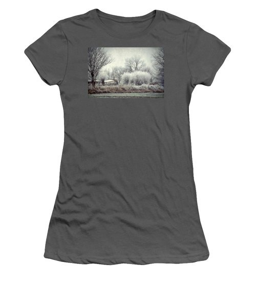 Women's T-Shirt (Junior Cut) featuring the photograph Frozen World by Annie Snel