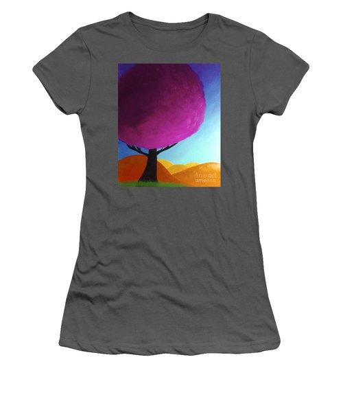 Fuchsia Tree Women's T-Shirt (Junior Cut) by Anita Lewis