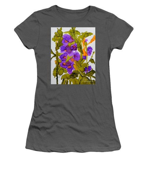 Garden Of Hollyhocks Women's T-Shirt (Athletic Fit)