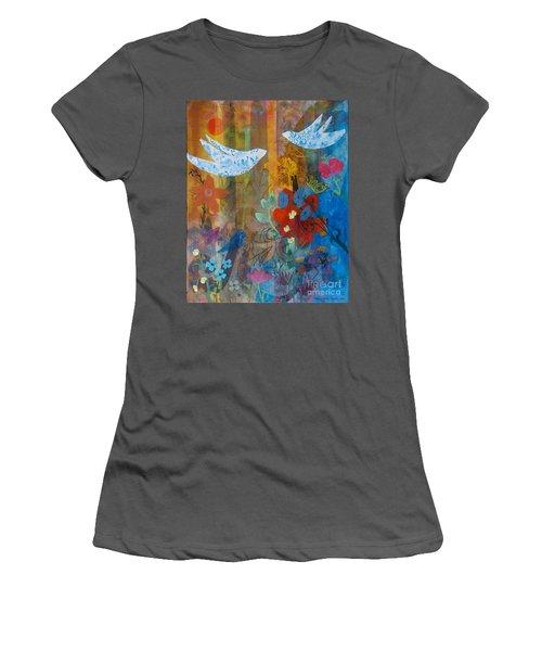 Garden Of Love Women's T-Shirt (Athletic Fit)