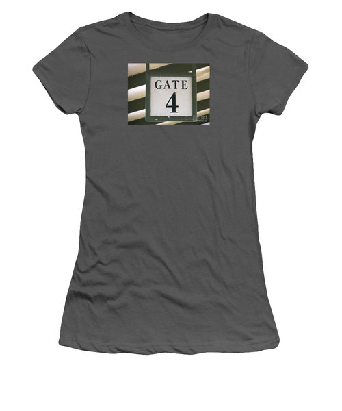 Women's T-Shirt (Junior Cut) featuring the photograph Gate #4 by Joy Hardee