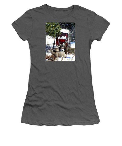 Gathering At The Old Stage Coach.. Women's T-Shirt (Athletic Fit)