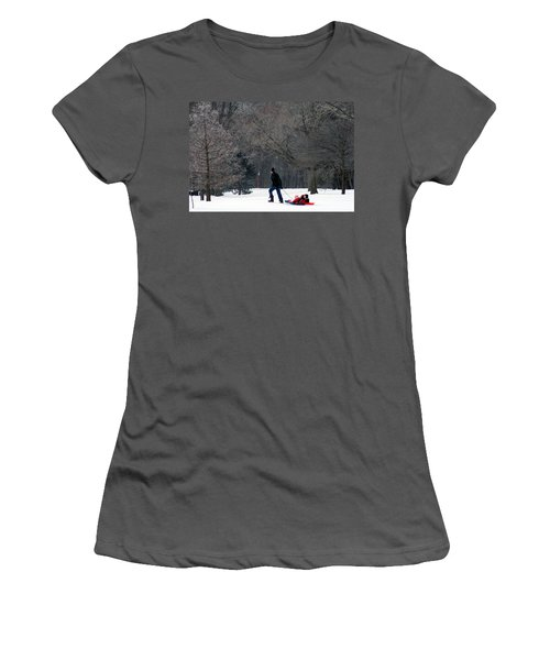 Women's T-Shirt (Junior Cut) featuring the photograph Getty-up Daddy by Kay Novy