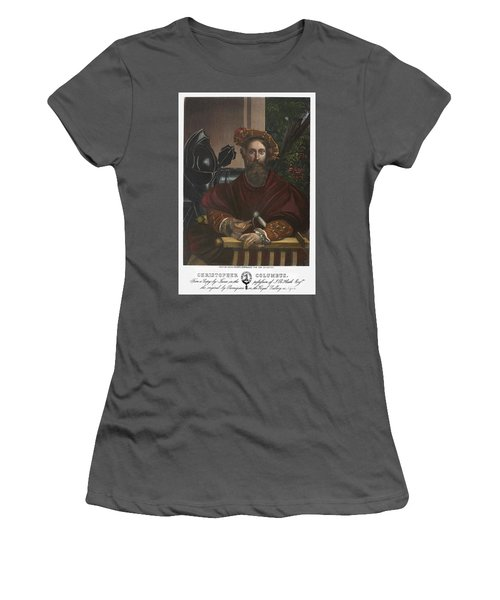 Women's T-Shirt (Junior Cut) featuring the painting Gian Galeazzo Sanvitale by Granger